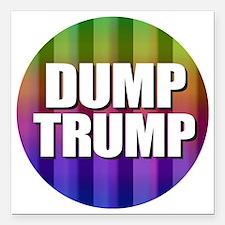 """Dump Trump Square Car Magnet 3"""" x 3"""""""