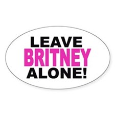 Leave Britney Alone! Oval Decal