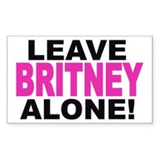 Leave Britney Alone! Rectangle Decal