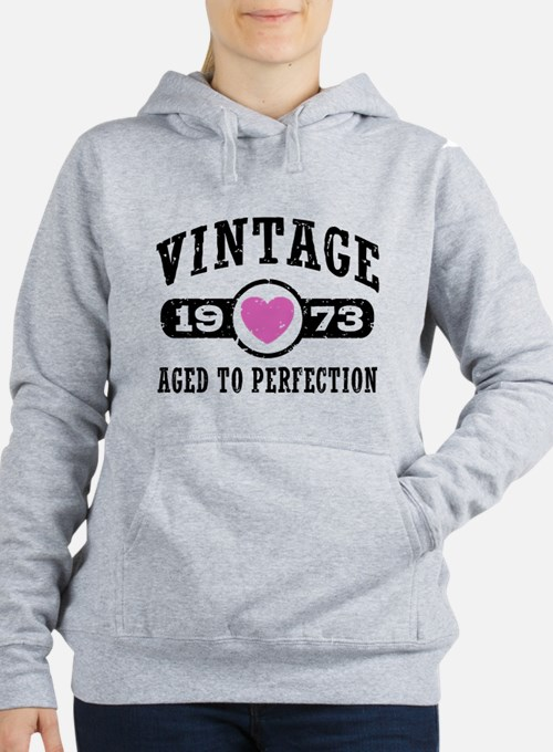 Vintage 1973 Women's Hooded Sweatshirt