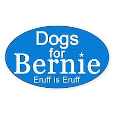 Dogs For Bernie Sticker (oval)