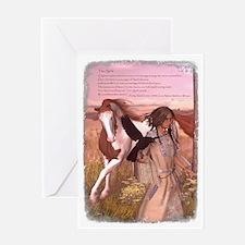 Cute American paint horse Greeting Card