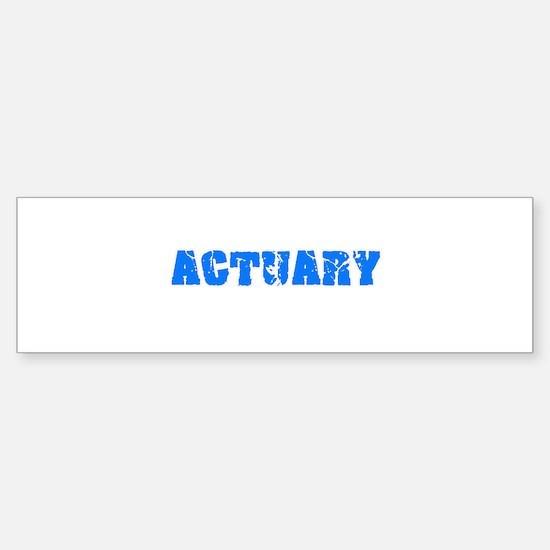 Actuary Blue Bold Design Bumper Bumper Bumper Sticker