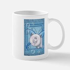 Piggy Portrait 2 Mugs