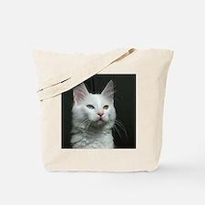 turkish angora two colored eyes white Tote Bag