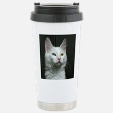 turkish angora two colored eyes white Travel Mug