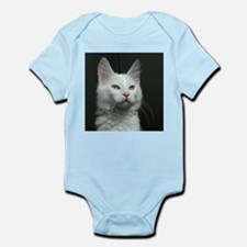 turkish angora two colored eyes white Body Suit