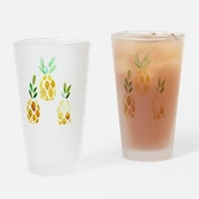 Cute Pineapples Drinking Glass