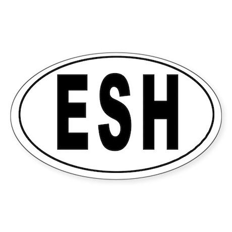 WESTERN SAHARA Oval Sticker
