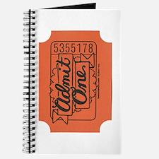 Admit One Orange Journal