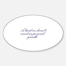 Hard-on not Personal Growth Oval Decal