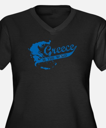 Greece is th Women's Plus Size V-Neck Dark T-Shirt