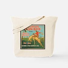 Vintage Florida Cowboy Fruit Tote Bag