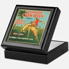 Vintage Florida Cowboy Fruit Keepsake Box