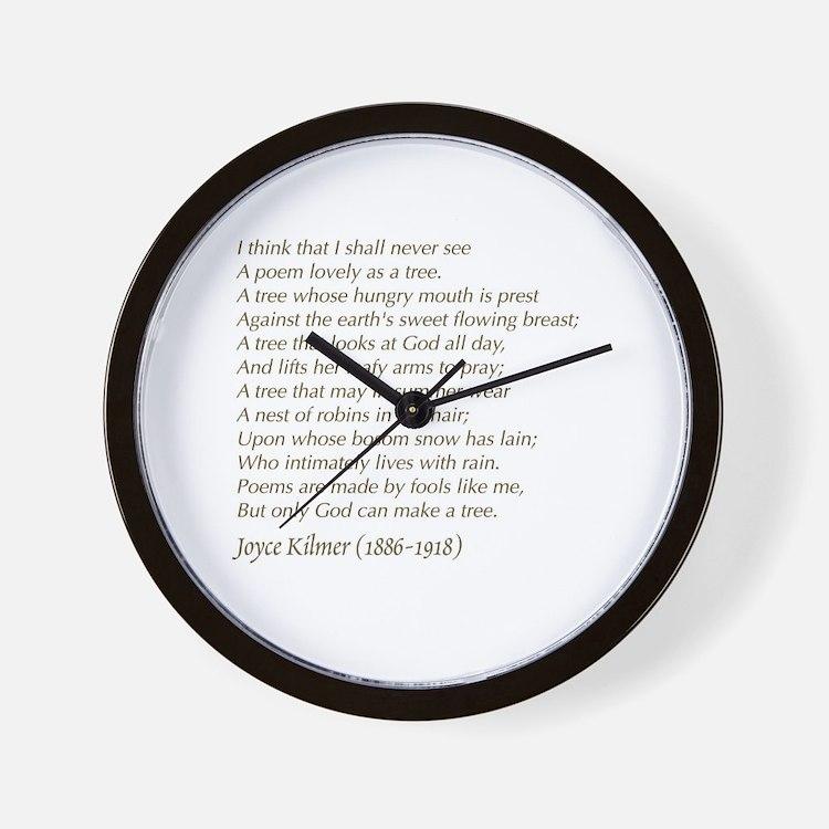 Cute Tree poem Wall Clock