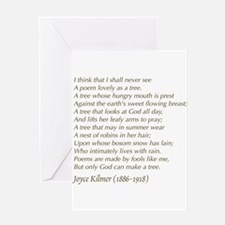 Joyce Kilmer Tree Poem Greeting Cards
