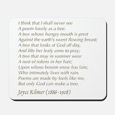 Joyce Kilmer Tree Poem Mousepad