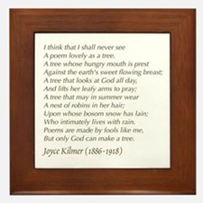 Joyce Kilmer Tree Poem Framed Tile