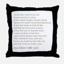 Joyce Kilmer Tree Poem Throw Pillow