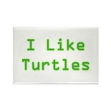 I Like Turtles Rectangle Magnet