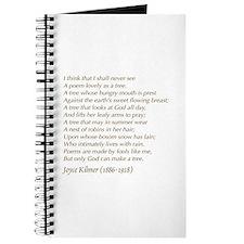 Joyce Kilmer Tree Poem Journal