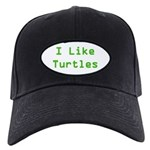 I Like Turtles Black Cap