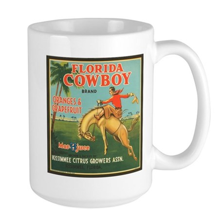 Vintage Florida Cowboy Fruit Large Mug