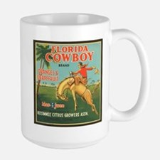 Vintage Florida Cowboy Fruit Large Mug