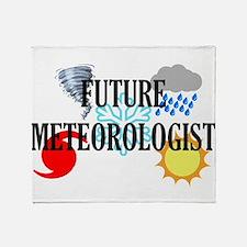 Future Meteorologist Throw Blanket