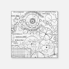 Garden Blueprint Section Sticker