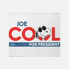 Joe Cool for President Throw Blanket