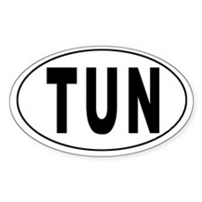 TUNISIA Oval Decal