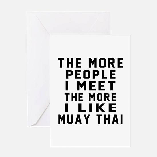 I Like Muay Thai Greeting Card