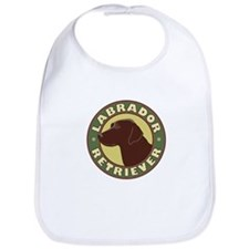 Chocolate Lab Crest - Bib