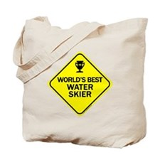 Water Skier Tote Bag