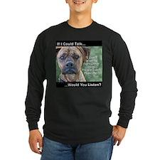 Stop Dog Fighting - Long Sleeve Dark TShirt