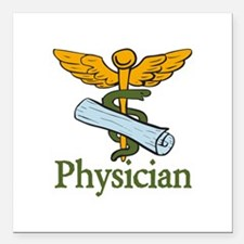"""Physician Square Car Magnet 3"""" x 3"""""""