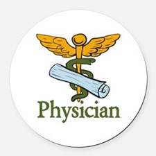 Physician Round Car Magnet