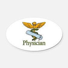 Physician Oval Car Magnet