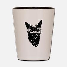 cat thug Shot Glass