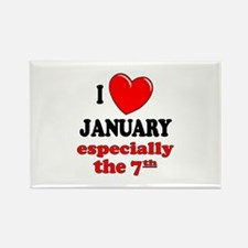 January 7th Rectangle Magnet
