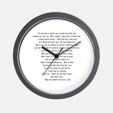 Psycho Speech Wall Clock