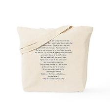 Psycho Speech Tote Bag
