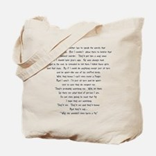 Psycho Speech Tote Bag