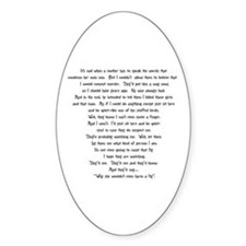 Psycho Speech Oval Decal