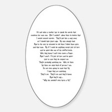 Psycho Speech Oval Stickers