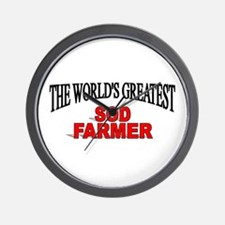 """The World's Greatest Sod Farmer"" Wall Clock"