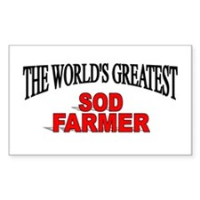 """The World's Greatest Sod Farmer"" Decal"
