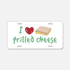 Grilled Cheese Heart Aluminum License Plate