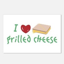 Grilled Cheese Heart Postcards (Package of 8)